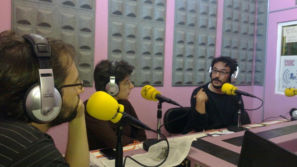 Carlos Villar, de Ecos do Sur, en Alegría, de CUAC FM