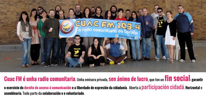 presentación cuac fm en Ourense